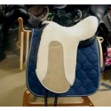 sheepskin saddleseat for dressage saddle