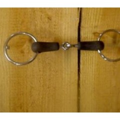 ring snaffle with rubbercovered mouthpiece