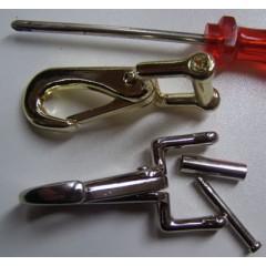 .Musketon voor reparatie halster, 6 stuks