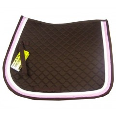 Saddlepad HKM brown/pink