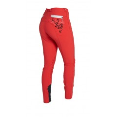 Montar breeches with embrodery,red